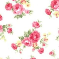 1.37mtr Remnant - Flowers - Ivory
