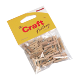 Pegs: Wooden: Natural