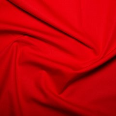 45'' Cotton Poplin - Bright Red