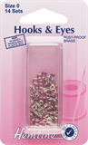 Hook and Eyes: Nickel - Size 0