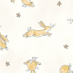 0.84mtr Remnant - Clothworks - Guess How Much I Love You - Rabbits - Cream