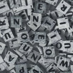 0.70mtr Remnant - Scrabble - Silver