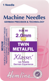 Metalfil Twin Machine Needles - 80/12 - 2mm