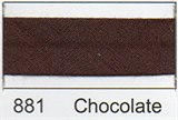 25mm Bias Binding - Chocolate