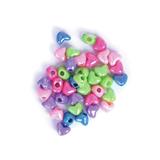 Shimmer Large Heart Beads: Plastic: 20g