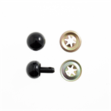 Toy Noses: Ball: 15mm: Black