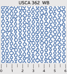 0.36mtr Remnant - P&B Textiles - Urban Scandinavian - 362 - White on Blue