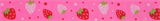 Grosgrain Ribbon : 5m x 20mm: Strawberries: Pink