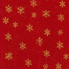 Gold Snowflake - Red