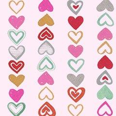 Clothworks - Vintage Valentine - Hearts on a string - Pink