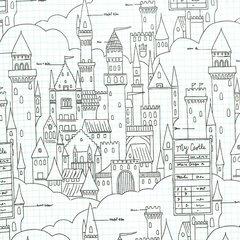 Michael Miller - Magic - Castle Plans - White