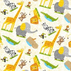 Blank Quilting - Safari Expedition - Tossed Mixed Animas