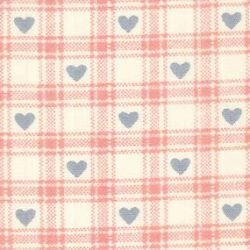 Checked Hearts - Pink