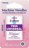 Twin Universal Machine Needles - 80/12 - 3mm