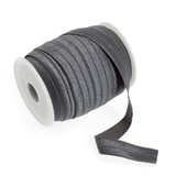 Fold Over Elastic: 16mm: Dark Grey