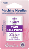 Twin Ball Point Machine Needles - 80/12 - 4mm