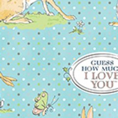 Clothworks - Guess How Much I Love You - Main - Blue