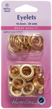 Eyelets Refill Pack: Gold/Brass - 10.5mm