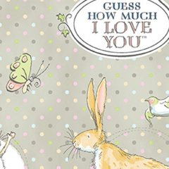 Clothworks - Guess How Much I Love You - Main - Grey
