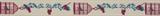 Natural Ribbon : 5m x 15mm: Birdcages: Plum & Blue