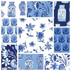 Clothworks - Blue Porcelain - Complete Pack (10)