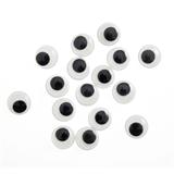 Toy Eyes: Googly: Glue-On: 3mm: Black: 70 Pack