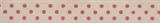Natural Ribbon : 5m x 15mm: Dots: Pink