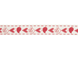 Natural Ribbon : 5m x 15mm: Birds & Gifts: Red