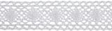 Cotton Lace: 5m x 30mm: White