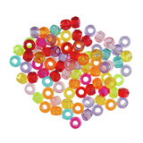 Opaque  Shimmer Pony Beads: Plastic: 20g