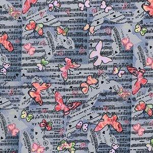 Musical Butterflies - Grey