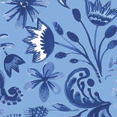 Clothworks - Blue Porcelain - Floral - Blue