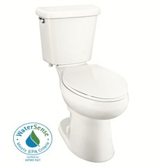 Glacier Bay N2410EB/N2410T 2-piece 1.0 GPF Single Flush Elongated Toilet in white