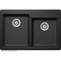 Elkay HDDBD33229QG Elkay by Schock Drop-In/Undermount Quartz Composite 33 in. Double Basin Kitchen Sink in Gray
