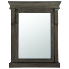 Home Decorators Collection NADGC2531 Naples 25 in. W x 31 in. H x 8 in. D Framed Surface-Mount Bathroom Medicine Cabinet in Distressed Grey