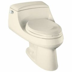 KOHLER K-3466-47 San Raphael 1-piece 1.6 GPF Single Flush Elongated Bowl Toilet in Almond