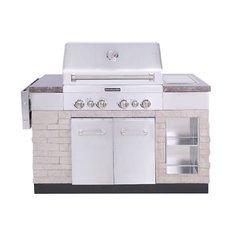 "KitchenAid 30"" Outdoor Island 4-Burner Liquid Propane Gas Grill - 860-0012"