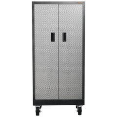 Gladiator GATB302DRG Premier Series Pre-Assembled 66 in. H x 30 in. W x 18 in. D Steel Rolling Garage Cabinet in Silver Tread