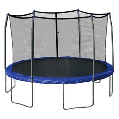 Skywalker SWJD15P Trampolines 15-Feet Round Trampoline and Enclosure with Spring Pad