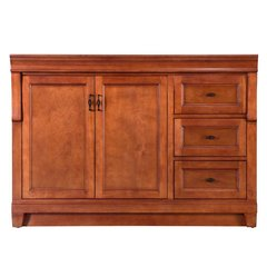 Foremost NACA4821D Naples 48 in. W Bath Vanity Cabinet Only in Warm Cinnamon with Right Hand Drawers