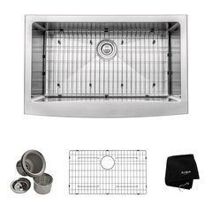 Kraus Khf200 33 Farmhouse Apron Front Stainless Steel 33 In Single Basin Kitchen Sink