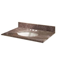 Pegasus 31664, 31 in. Granite Vanity Top in Montero with White Basin