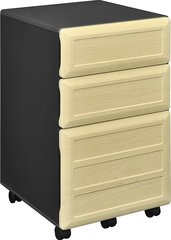 Altra 9523096 Pursuit 3 Drawer Mobile/Pedestal File, Gray,Letter/Legal, 15.37''W