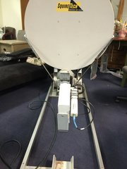 avl technologies model 960 satellite communication system dish