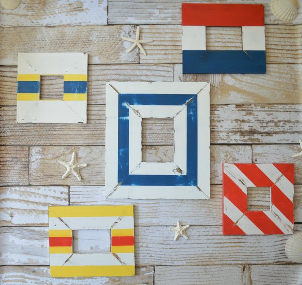 nautical picture frame collage wall set free shipping - Nautical Frames