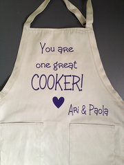 Custom, personalized, adjustable apron