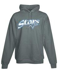 Stars Baseball ADULT black long sleeve pullover hoodie