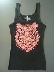"""Fashion """"Lace Tiger"""" Cotton/Poly/Spandex Tank"""