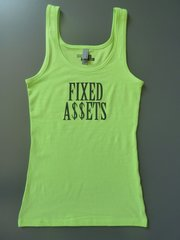 "Fitness ""Fixed Assets"" Cotton/Poly/Spandex Tank"