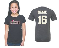 2017 Jr Coyotes Girls tee with Jr Coyote graphic Logo with Name and Number